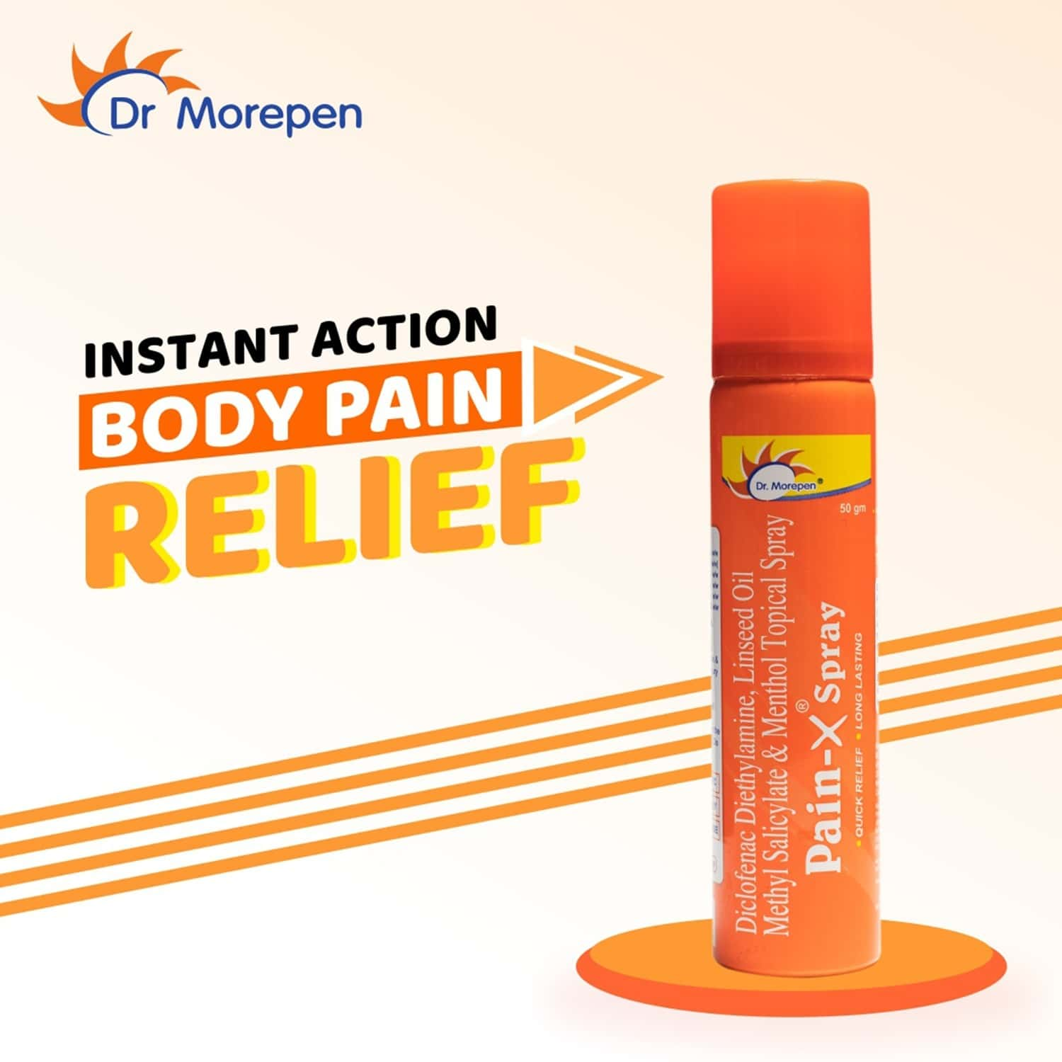 Dr. Morepen Pain-x Pain Relief Spray - 50gm