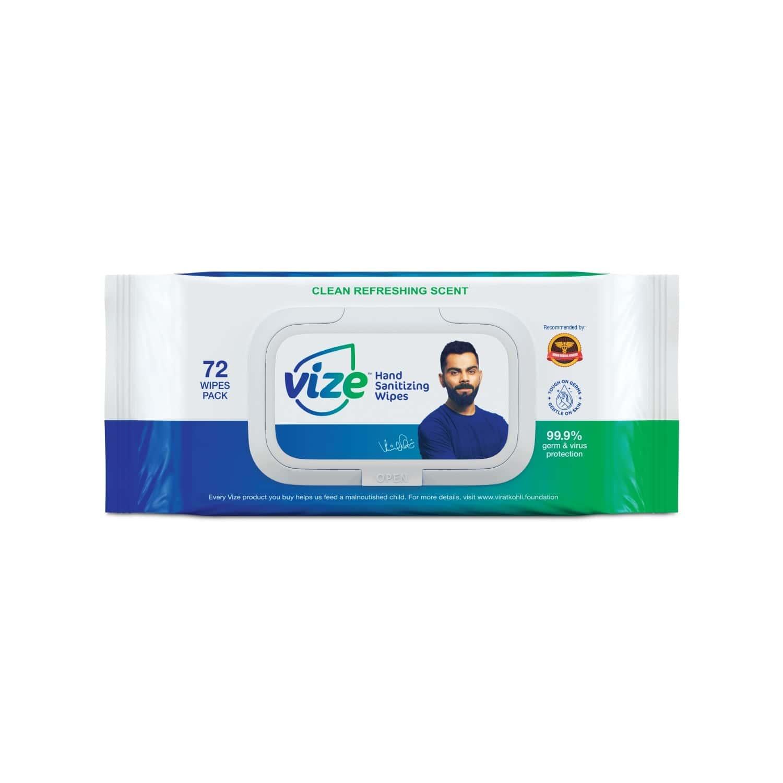 Vize Hand Sanitizing Wipes - 72 Wipes
