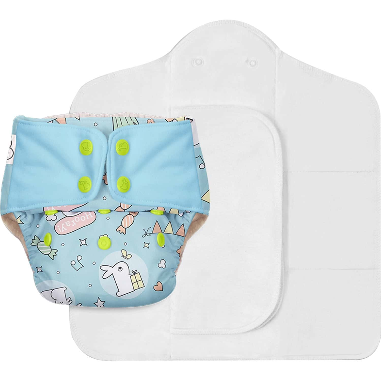 Superbottoms Freesize Uno - Reusable Cloth Diaper With Dry Feel Pads Set - Hunny Bummy