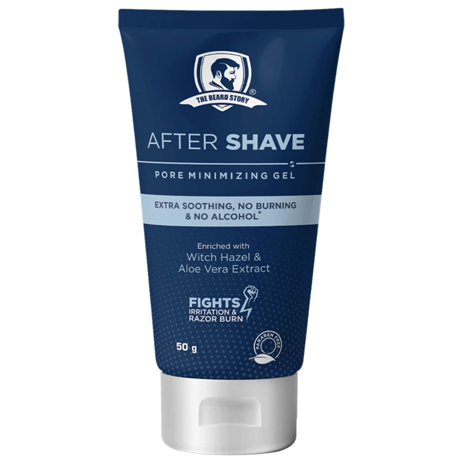 The Beard Story After Shave Pore Minimizing Gel, Extra Soothing , No Burning & No Alcohol - 50 Gm
