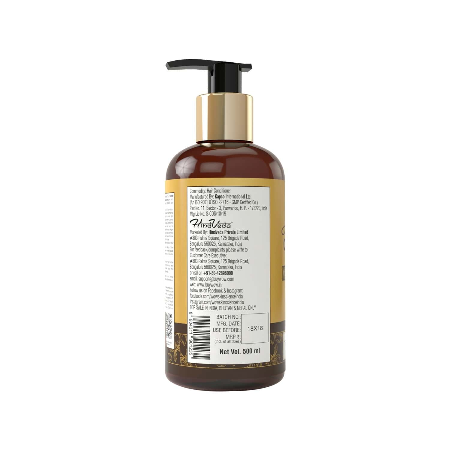 Wow Skin Science Moroccan Argan Oil Conditioner - 500 Ml
