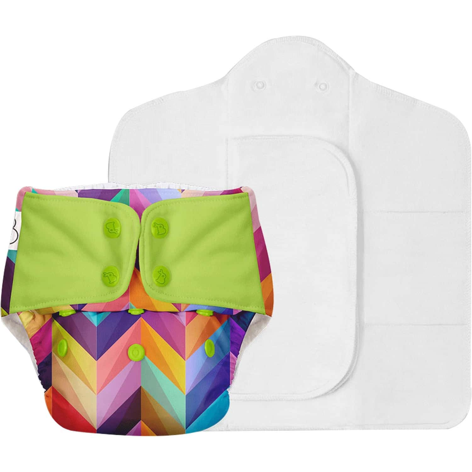 Superbottoms Freesize Uno - Reusable Cloth Diaper With Dry Feel Pads Set - Colour Pop