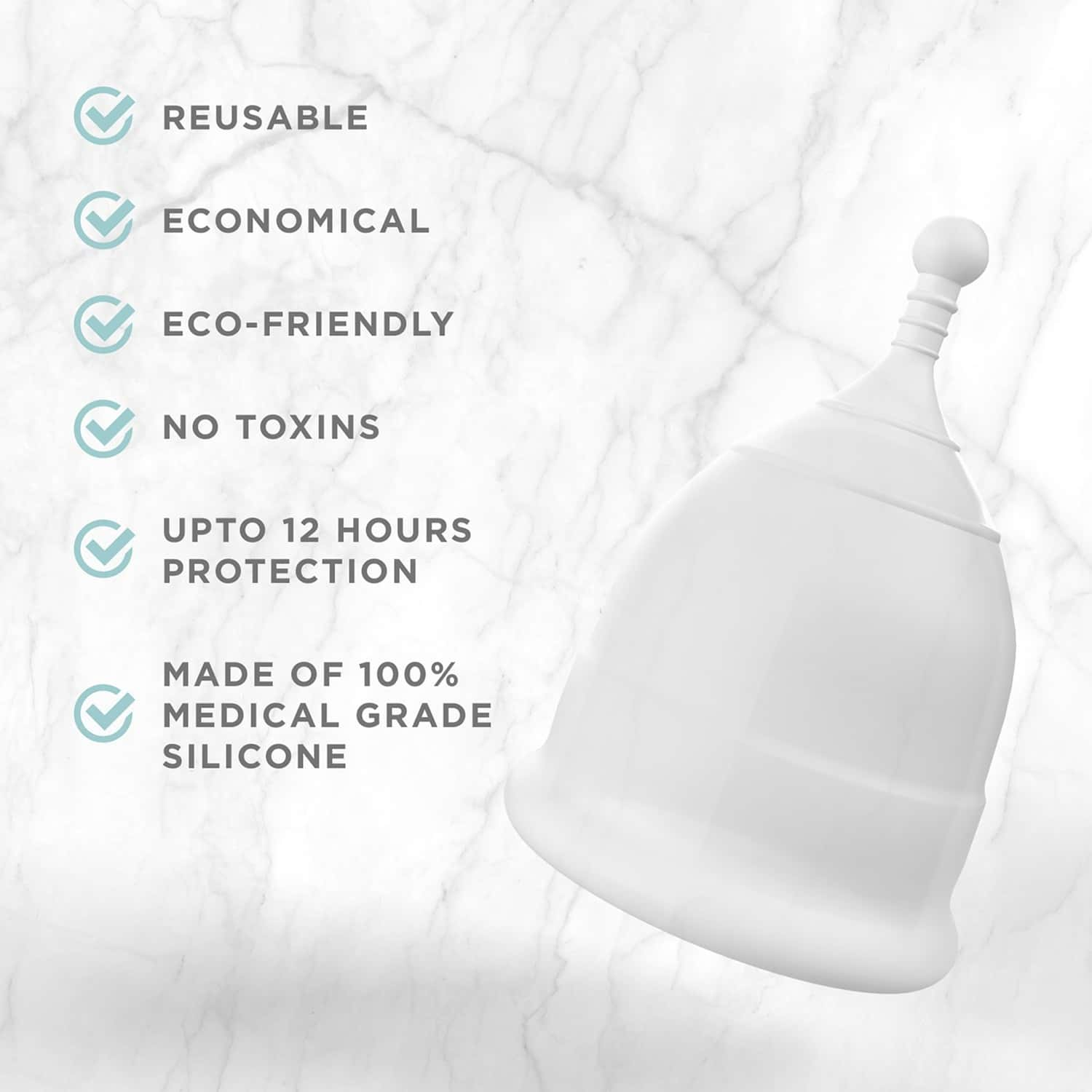 Pee Safe Reusable Menstrual Cup With Medical Grade Silcone For Women - Large