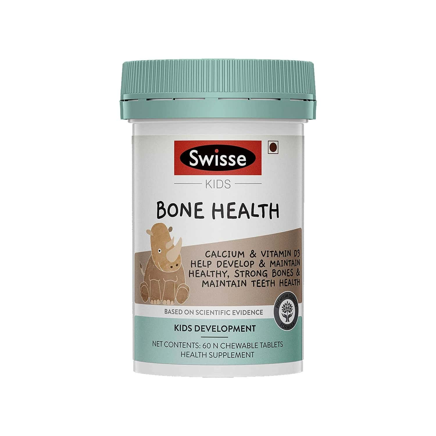 Swisse Kids Bone Health Supplements (calcium And Vitamin D3) For Healthy Strong Bones And Maintenance Of Teeth Health (5-12 Years) - 60 Chewable Tablets