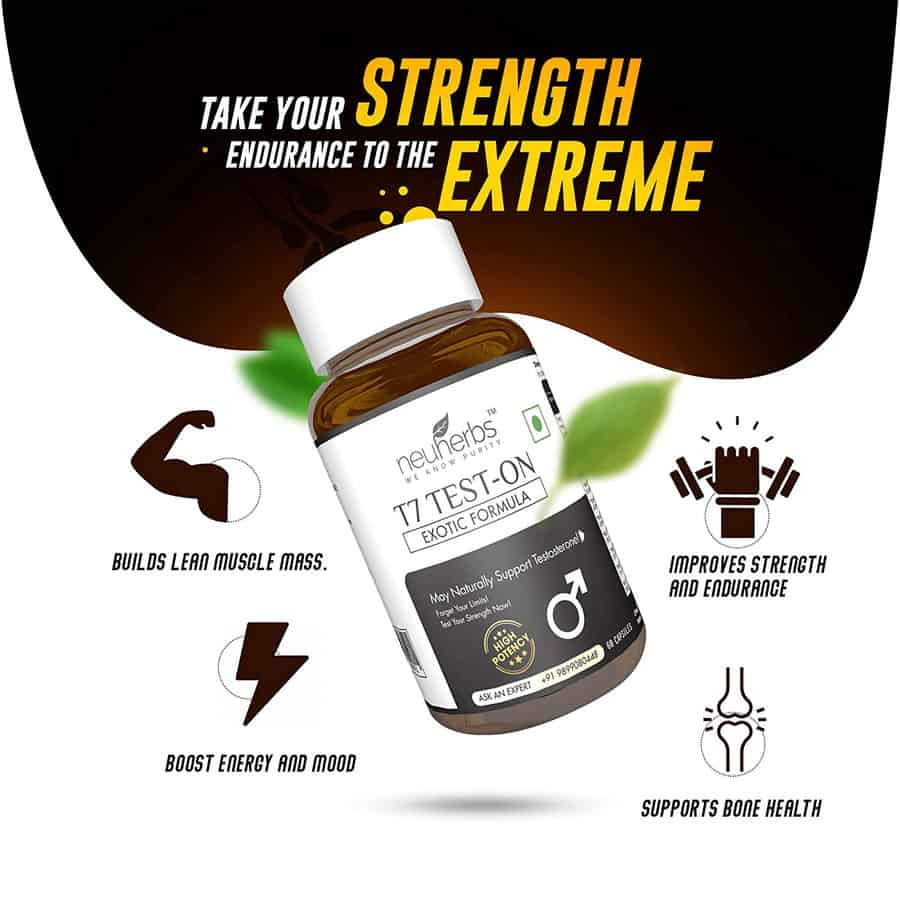 Buy Neuherbs T7 ( Testosterone Booster ) With Exotic Formula - 60 Capsules Online get Upto 60%