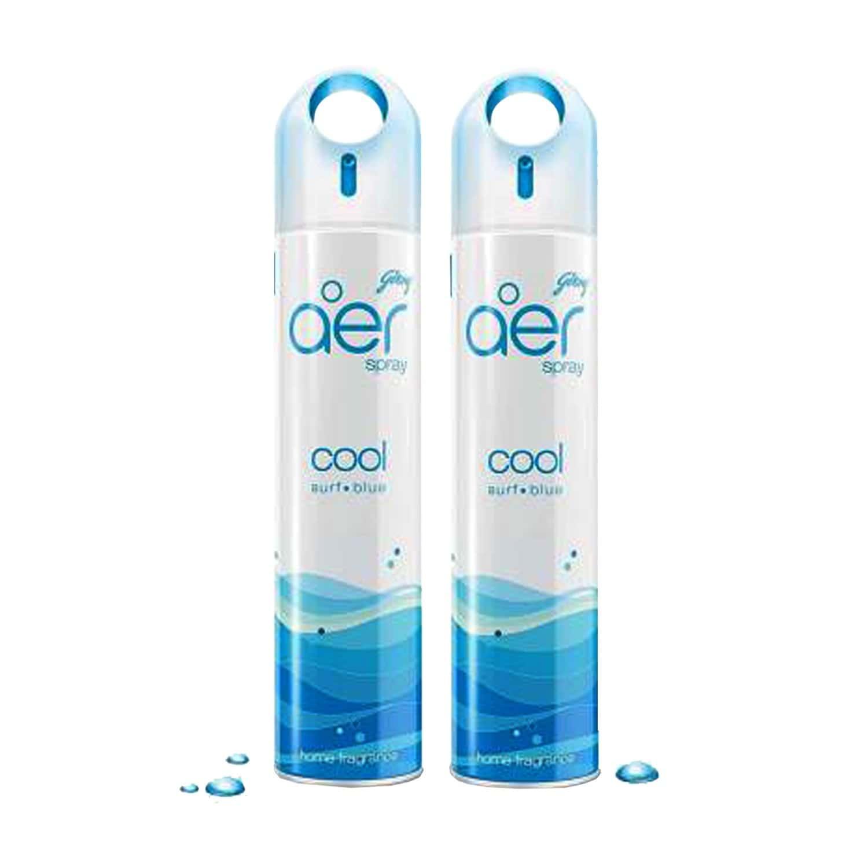 Godrej Aer Home Freshener Spray Cool Surf Blue - Pack Of 2 (2*240ml)