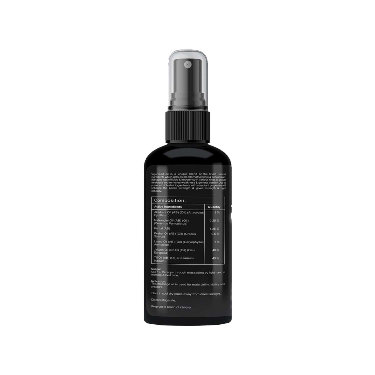 West Coast Vigorneed Oil For Specially Formulated Male Performance Formula - 100ml