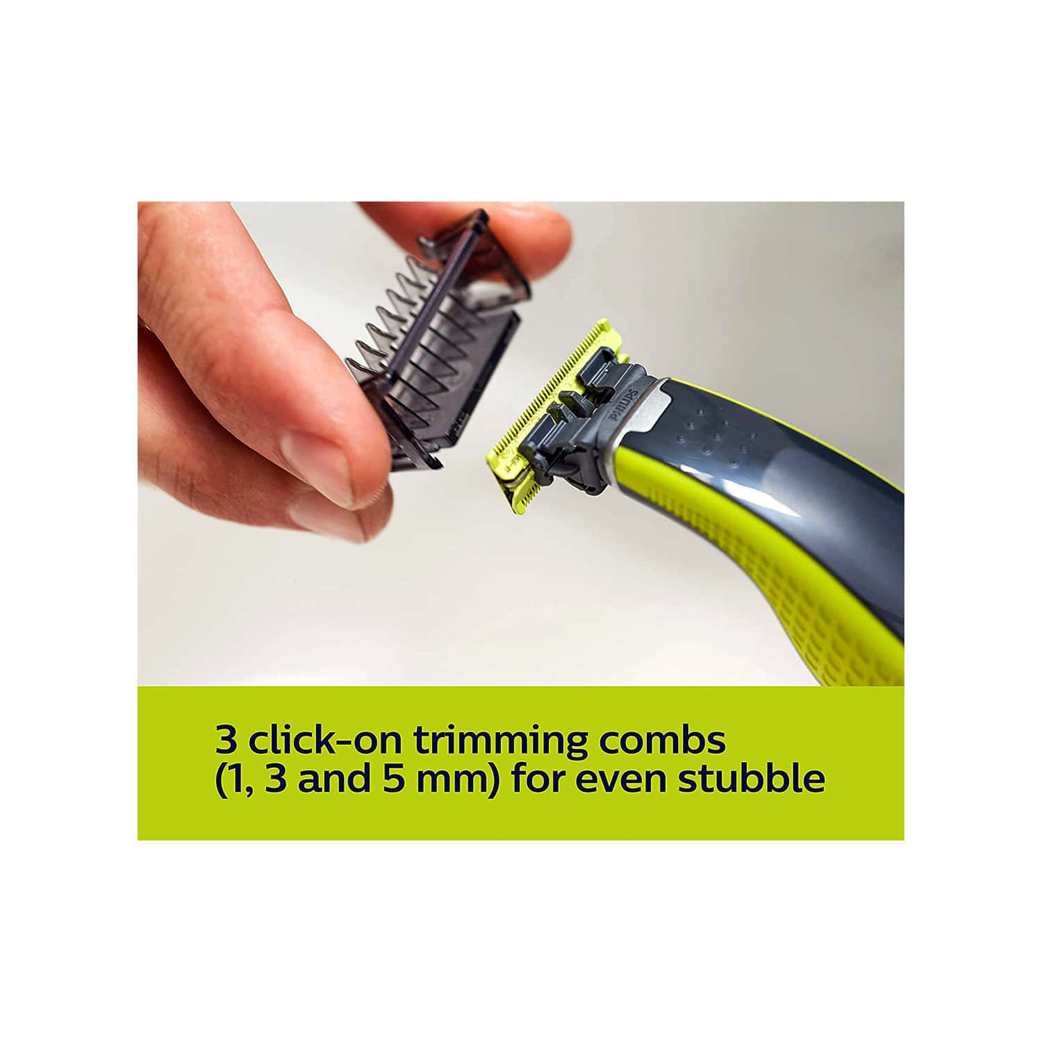 Philips Qp2526/10 Oneblade Hybrid Trimmer And Shaver With 3 Trimming Combs And Extra Blade