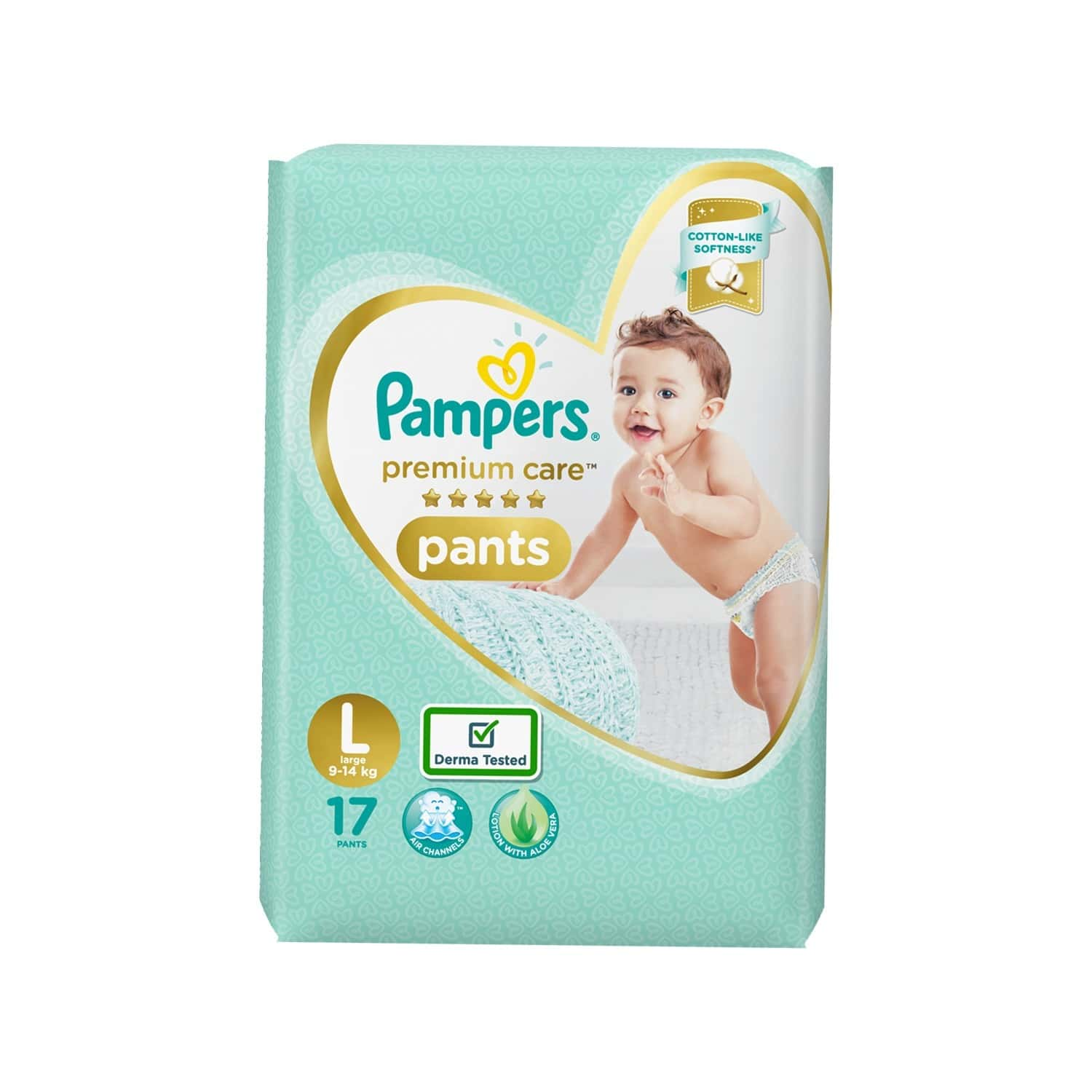 Pampers Premium Care Pants Diapers - Large - 17 Count