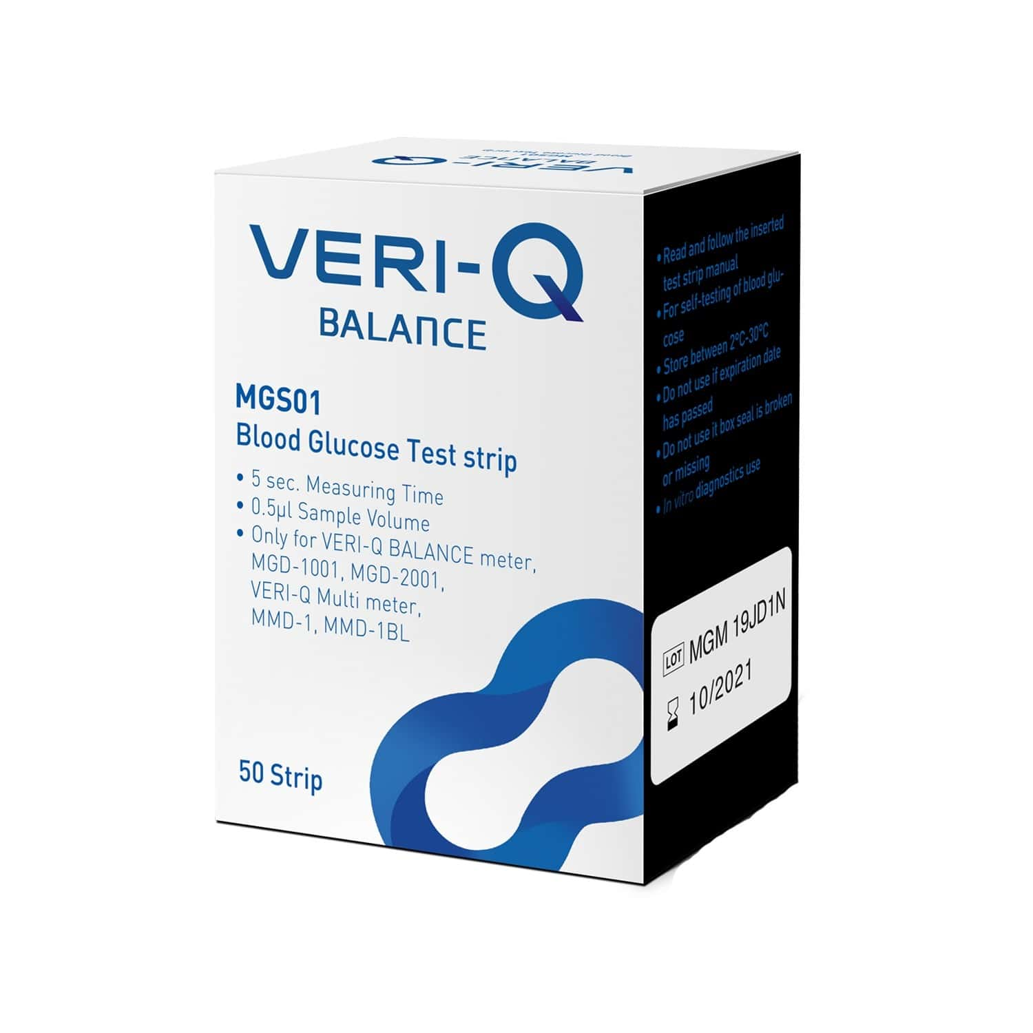Veri-q Glucometer Strips Box Of 50