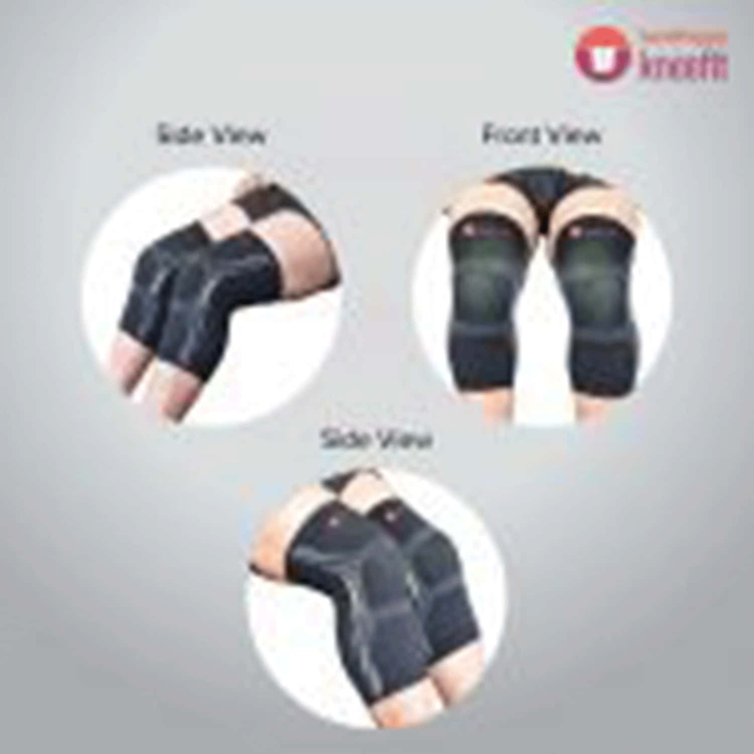 Sandpuppy Kneefit- Large .knee Compression Support For Sports   Non-slip Silicone Grip   Breathable Fabric