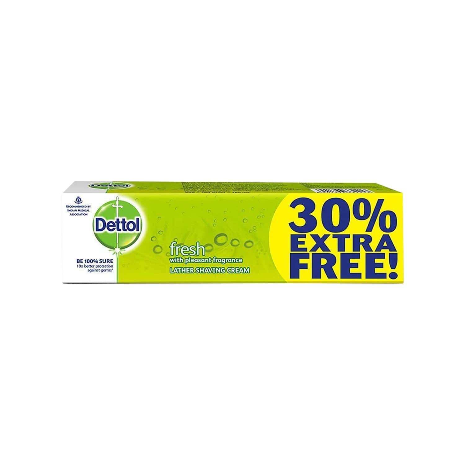 Dettol Fresh Lather  Shaving Cream  Box Of 78 G (60g + 18g Free)