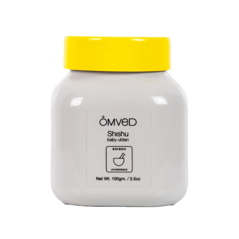 Omved Shishu Baby Ubtan - Ayurvedic Cleansing Bath Powder With 5 Organic Herbs- 100 G