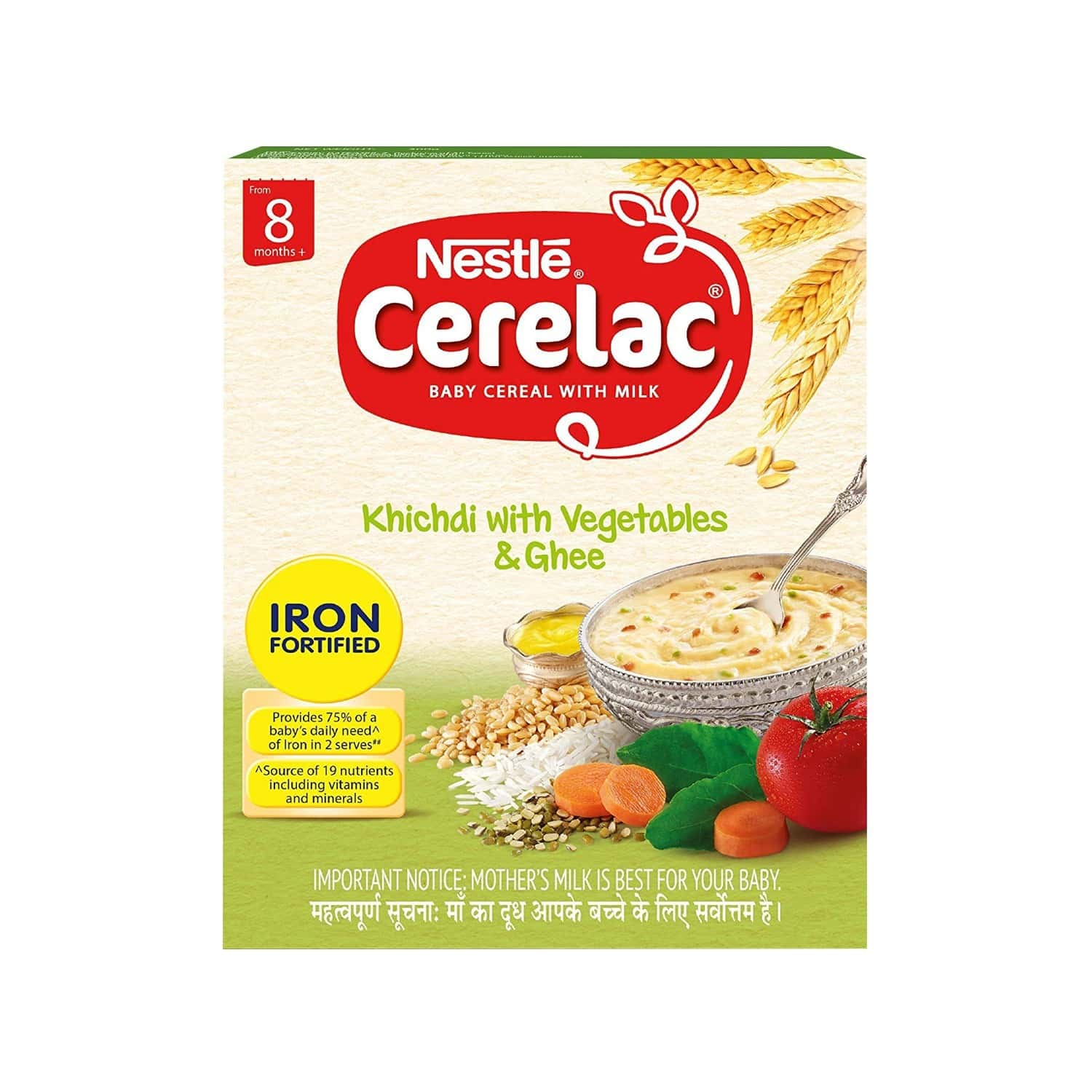 Nestle Cerelac Baby Cereal With Milk Khichdi With Vegetables & Ghee Baby Food (from 8 Months) Box Of 300 G