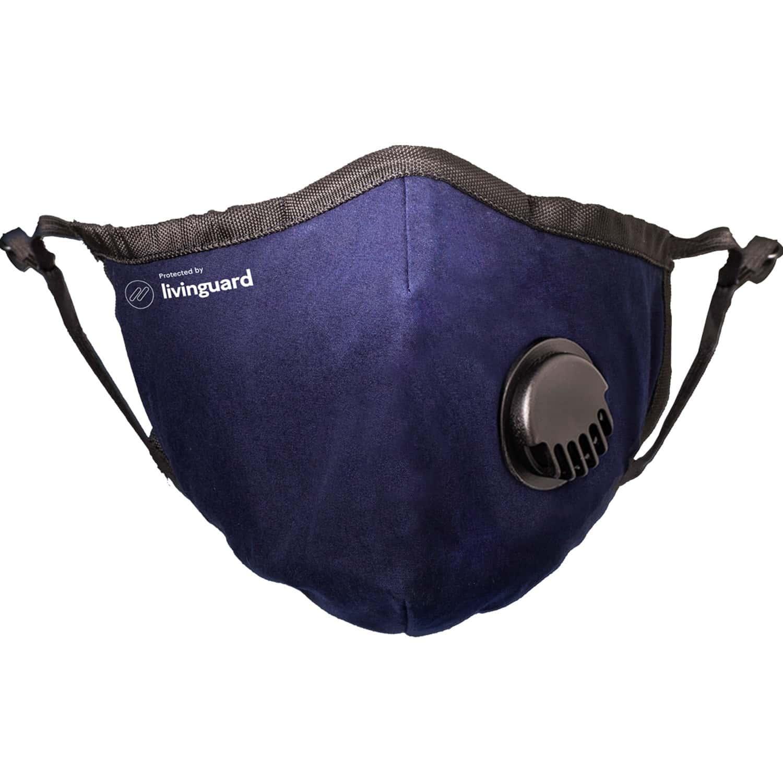 Livinguard Street Mask   2 Layers   Anti-viral & Anti-bacterial   Non-toxic & Safe   Washable & Reusable   Cotton Face Mask   Medium - Bombay Blue