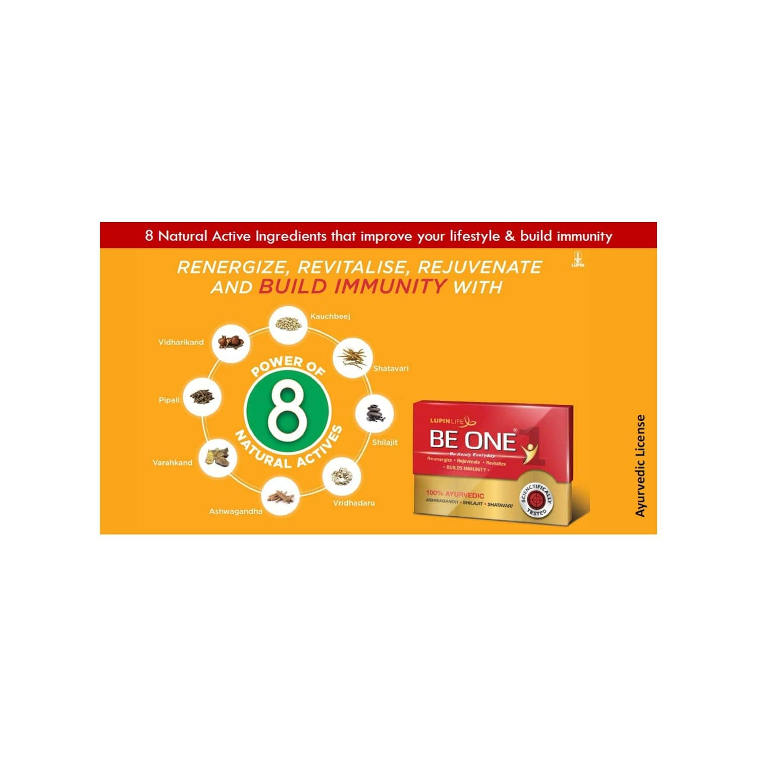 Be One 100% Ayurvedic Energy And Immunity Supplement - 10 Tablets