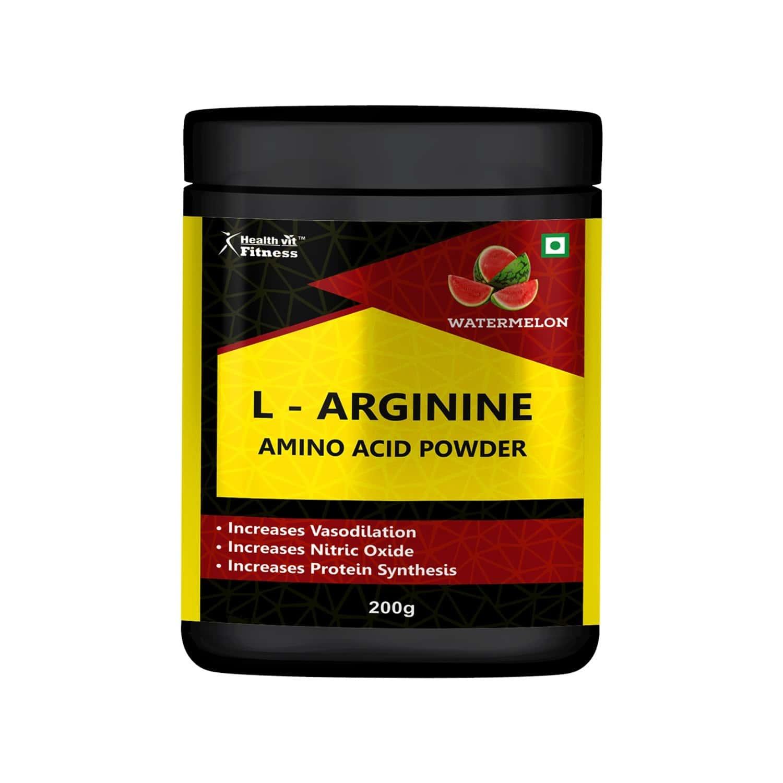 Healthvit Fitness L - Arginine Amino Acid Powder - Watermelon Flavour - 200gm