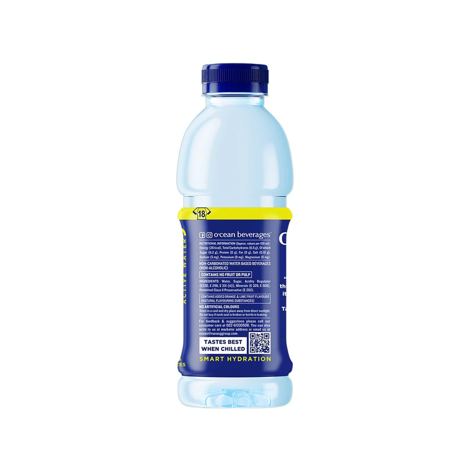 O'cean Orange & Lime Active Water  Bottle Of 500 Ml