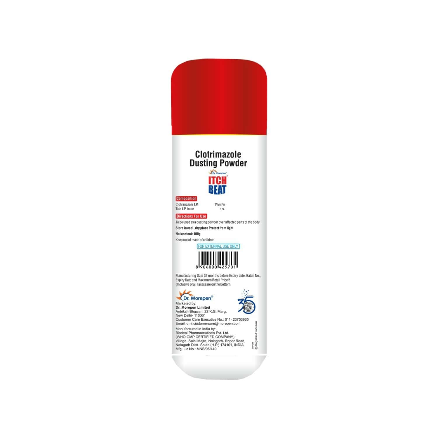 Dr. Morepen Itch Beat Antifungal Dusting Powder