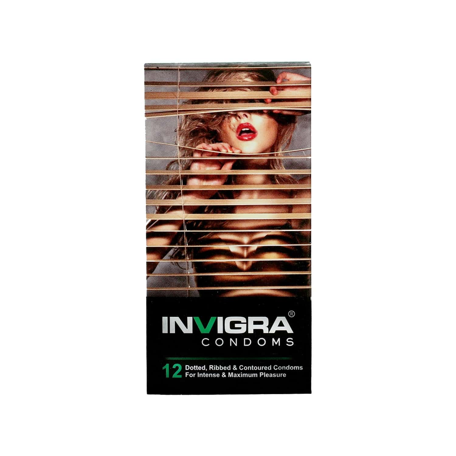 Invigra Max Pleasure Condoms - 12 Condoms