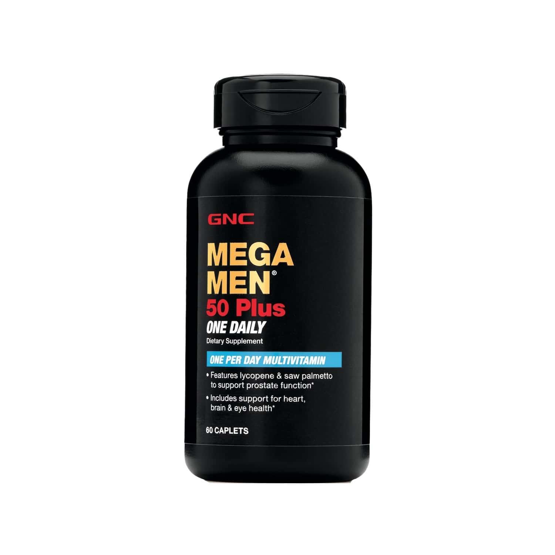 Gnc Mega Men 50 Plus One Daily Multivitamin Tablets Bottle Of 60