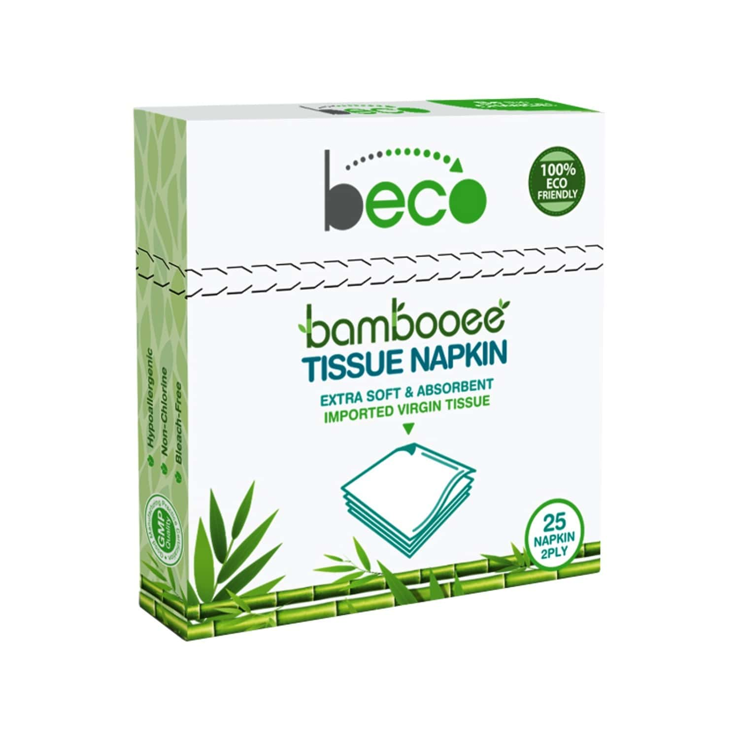 Beco Bambooee Serving Napkins - 2 Ply X 25 Pcs