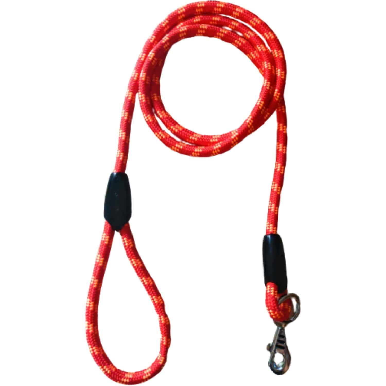 Pawcloud Nylon Rope Leash For Medium & Large Dogs Red Medium Length - 48 Inches