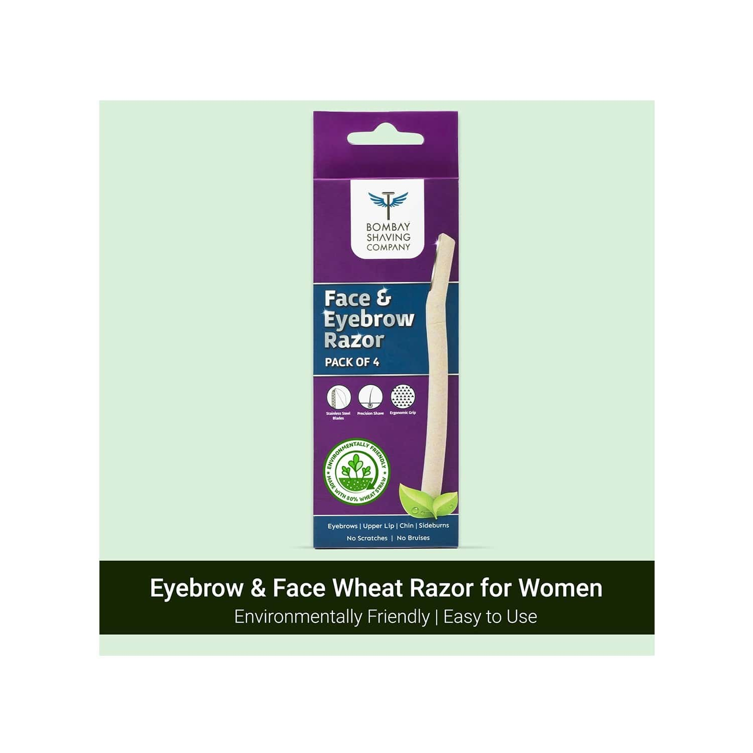 Bombay Shaving Company Face & Eyebrow Razor (pack Of 4) | Face Razor For Women For Easy Facial Hair Removal At Home