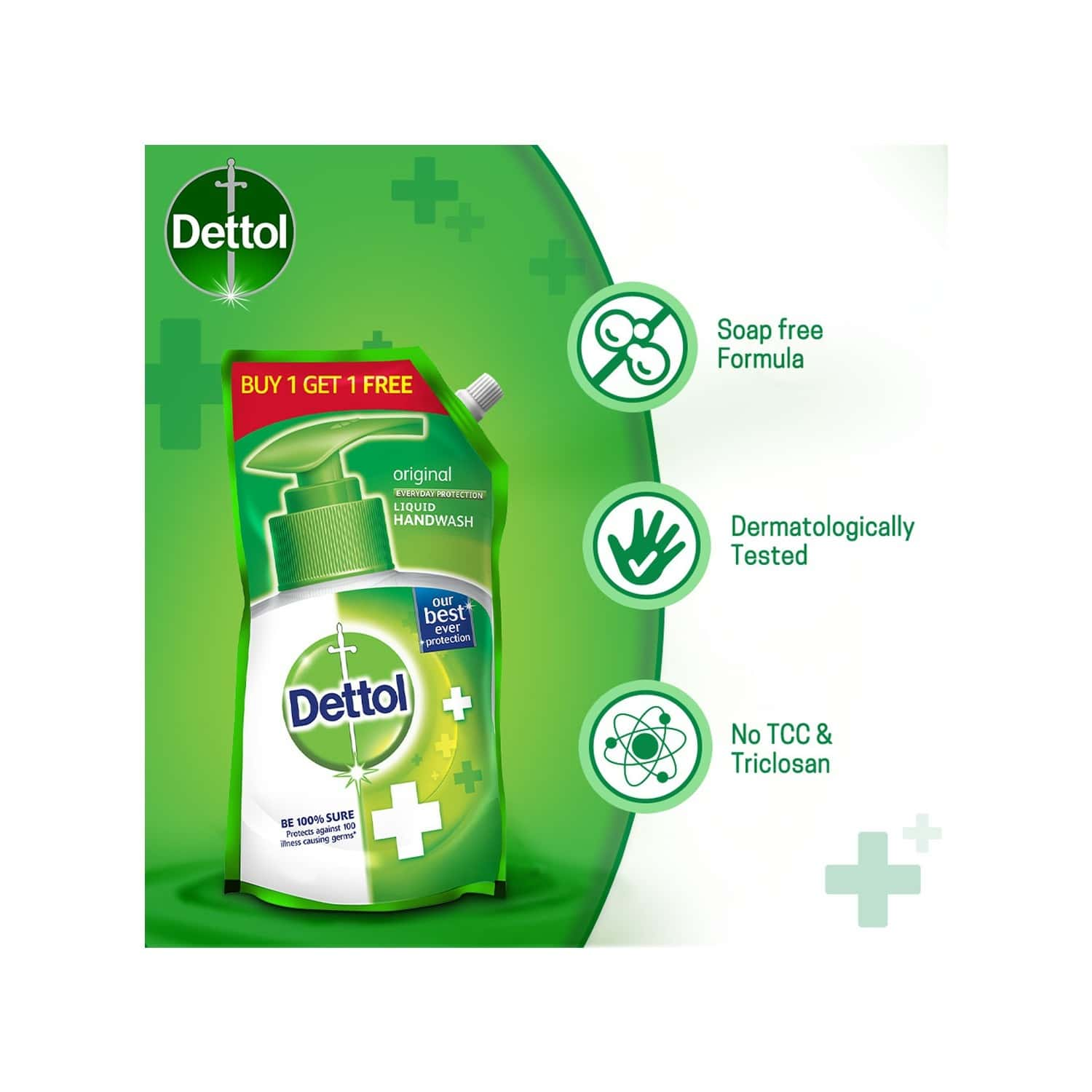 Dettol Original Handwash Liquid Soap Refill, 750 Ml, Buy 1 Get 1 Free