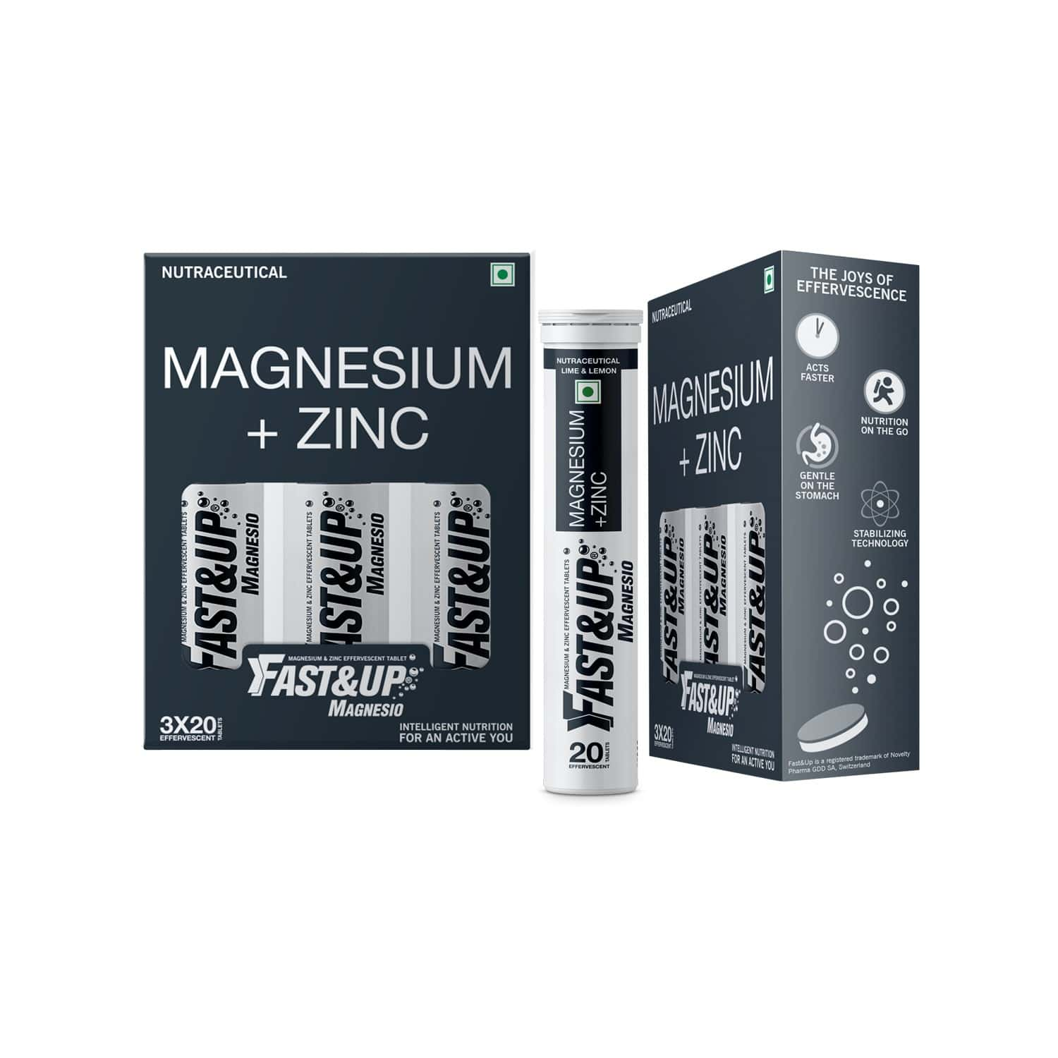 Fast&up Magnesio - Lime & Lemon Flavor (pack Of 3)