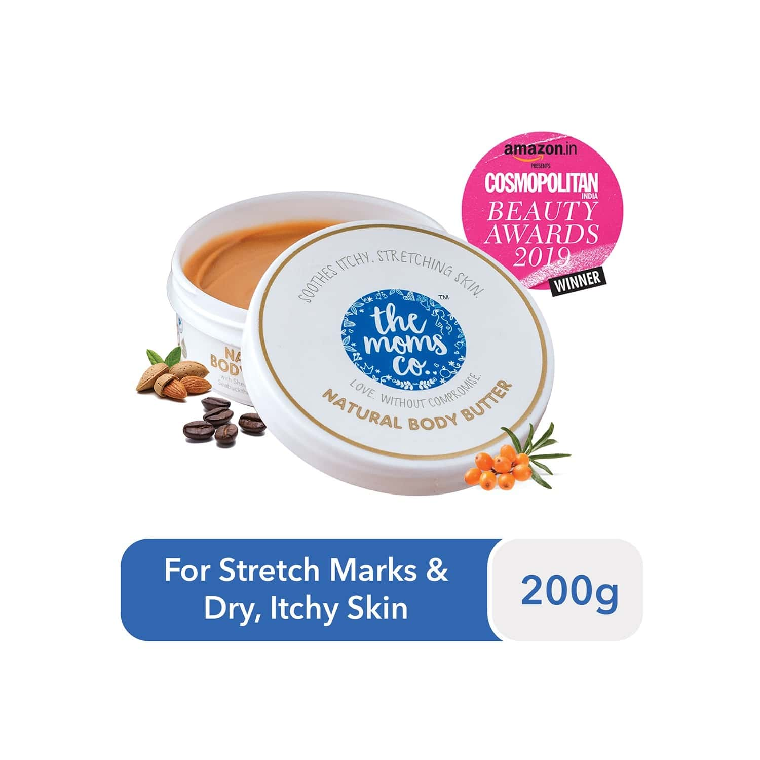 The Moms Co. Natural  Body Butter  Container Of 200 G
