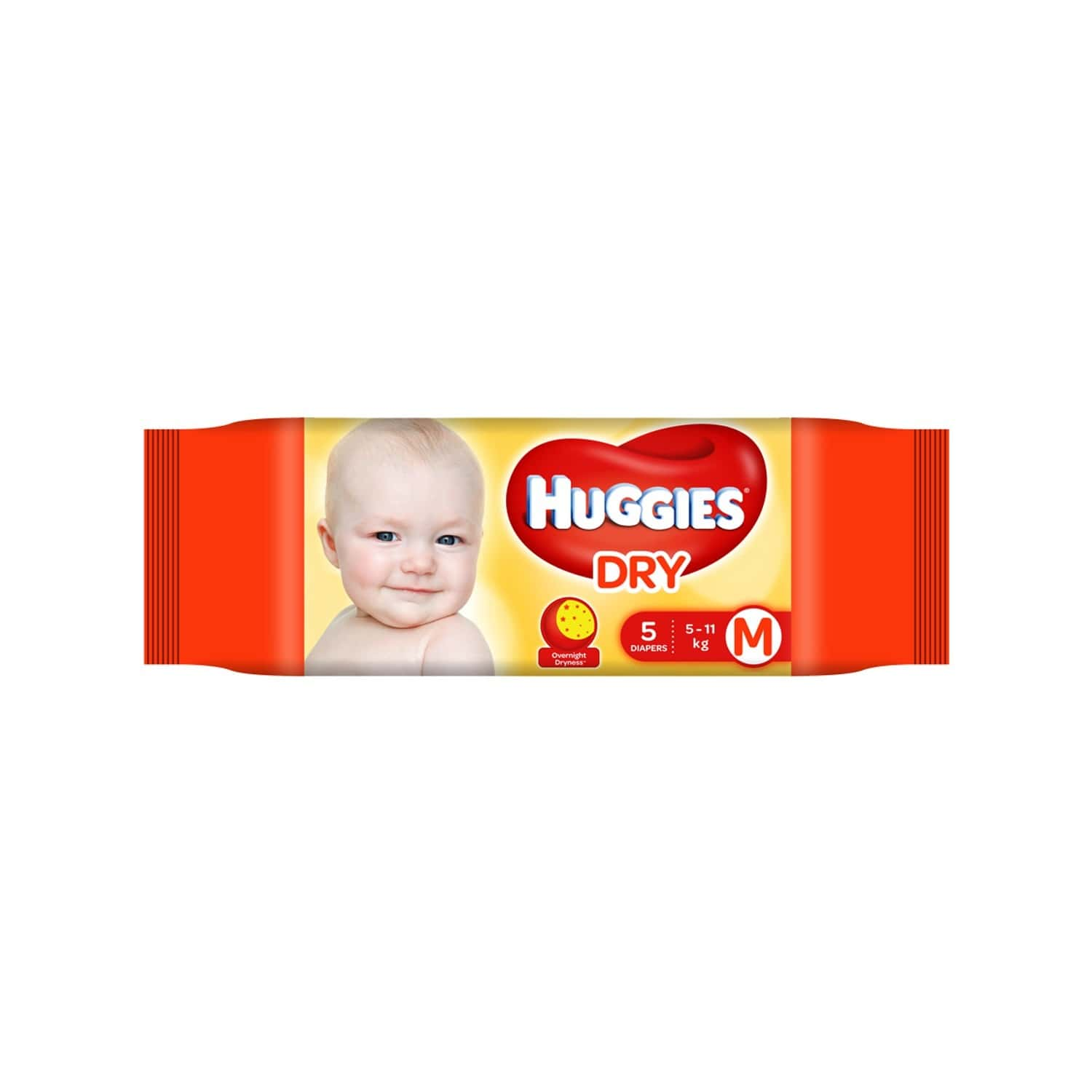 Huggies Dry Tape Diapers ( Medium Size) - 5 Count