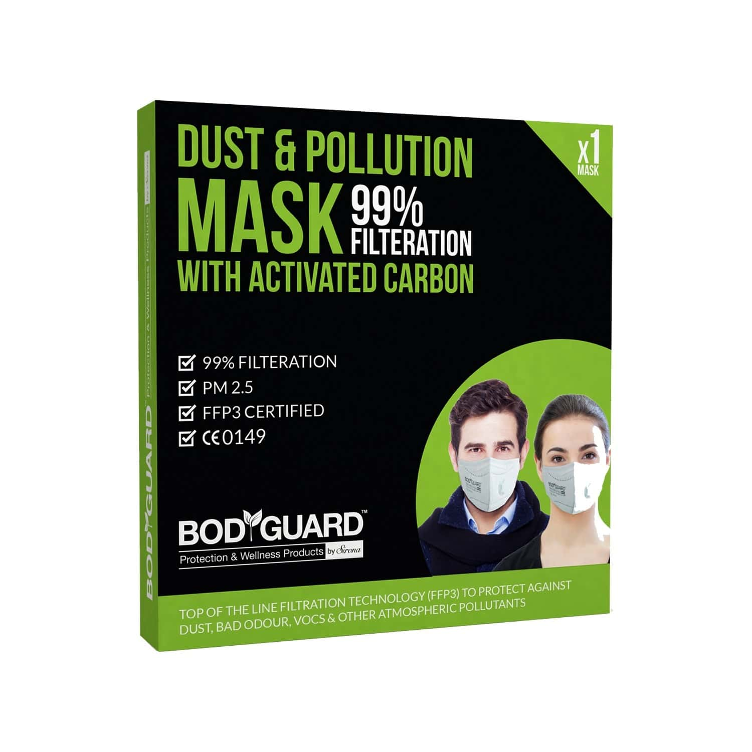 Bodyguard Activated Carbon N99 Mask