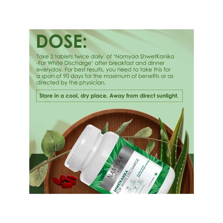 Namyaa Shwetkanika For White Discharge - Pack Of 60 Tablets - 100 G