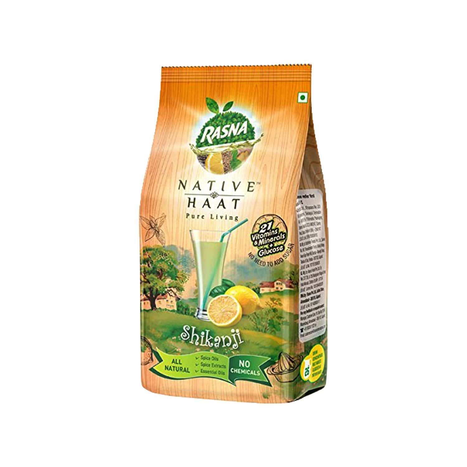 Rasna Native Haat Shikanji -instant Drink Concentrate Mix 500 G