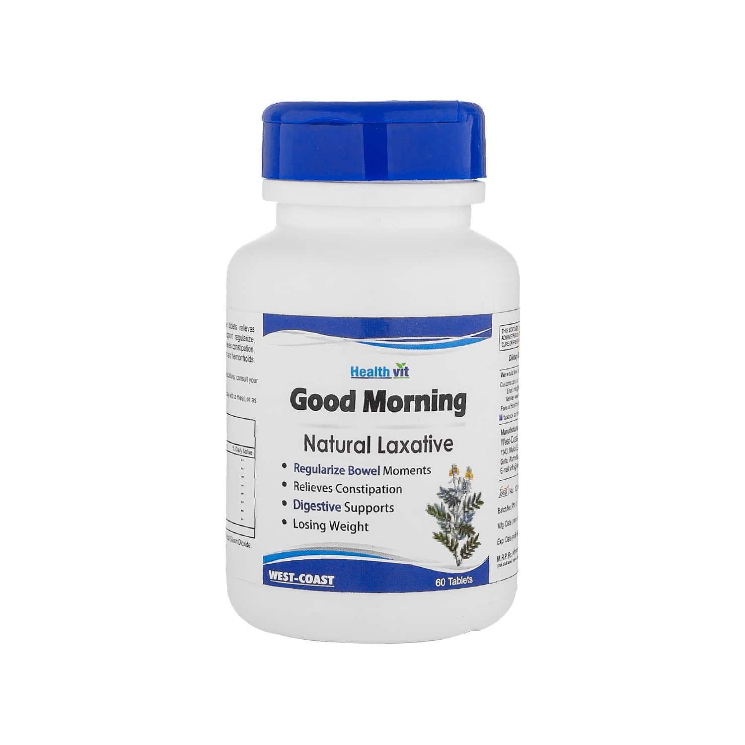 Healthvit Good Morning Natural Laxative Tablets Bottle Of 60