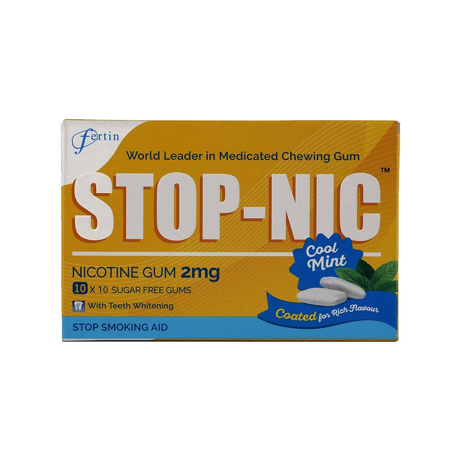 Stop-nic 2mg Nicotine Gums (10 Blister Pack) Box Of 100 's