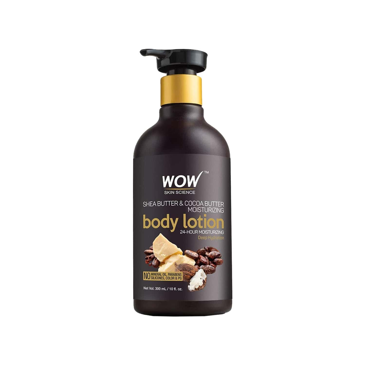 Wow Skin Science Shea & Cocoa Butter Body Lotion - Deep Hydration - 300ml