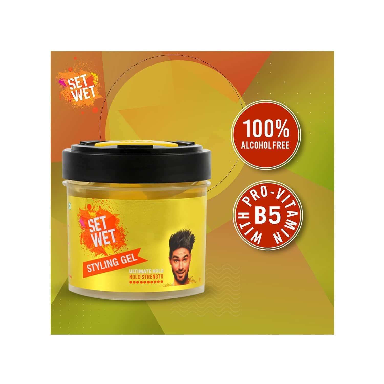 Set Wet Hair Gel For Men, Ultimate Hold, Maximum Hold, Jar 250 Ml