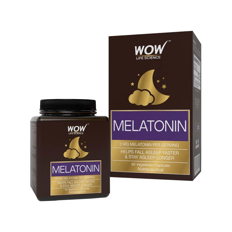 Wow Life Science Melatonin 3 Mg - 60 Vegetarian Capsules