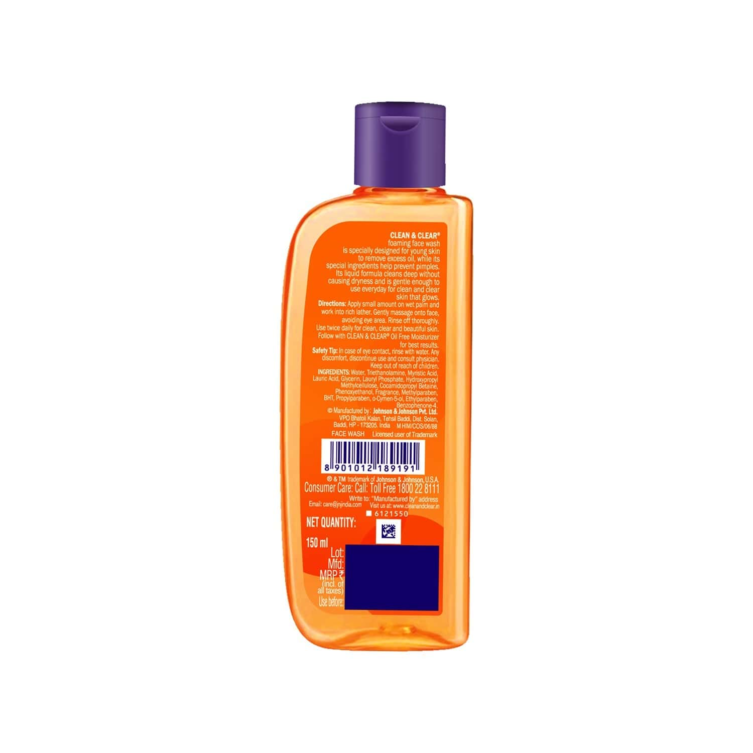 Clean & Clear Foaming Face Wash - 150ml