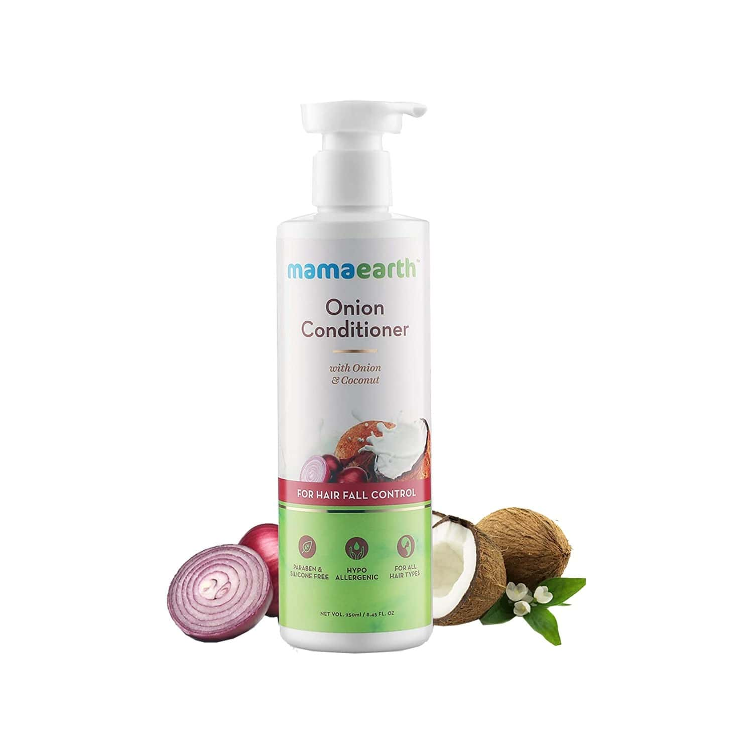 Mamaearth Onion Conditioner For Hair Fall Control With Coconut Oil Bottle Of 400 Ml