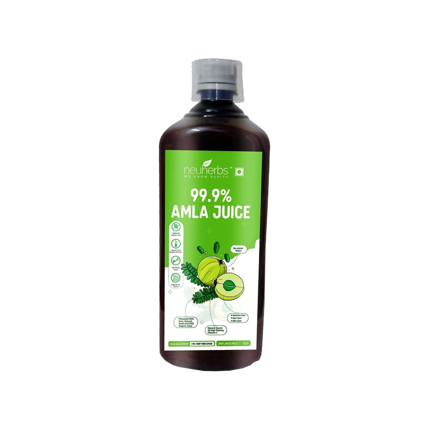 Neuherbs Amla Juice For Better Immunity And Digestion With A Natural Source Of High Potency Vitamin C - 1 L