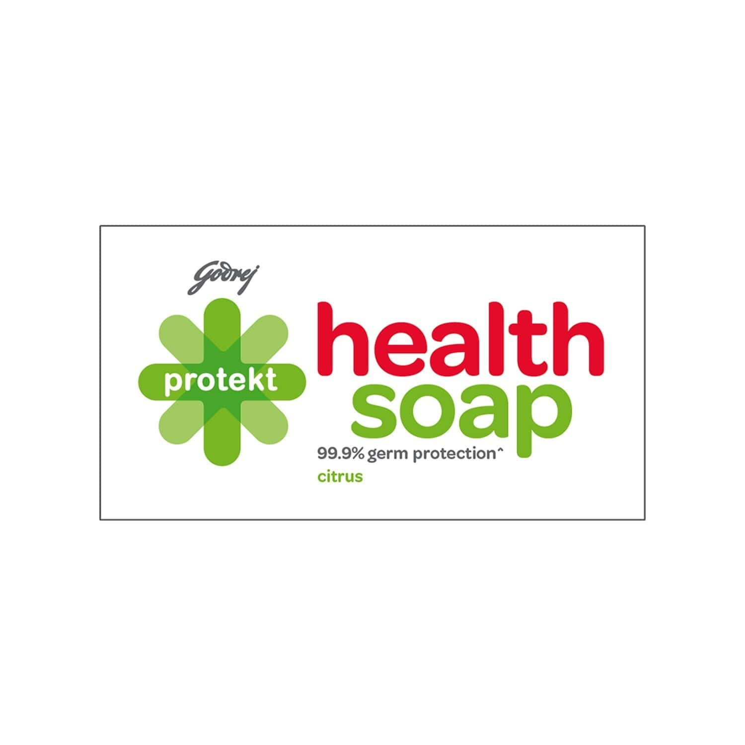 Godrej Protekt Health Bathing Soap - Citrus Fragrance - Anti-bacterial With 99.9% Germ Protection, Pack Of 8 (100g Each)