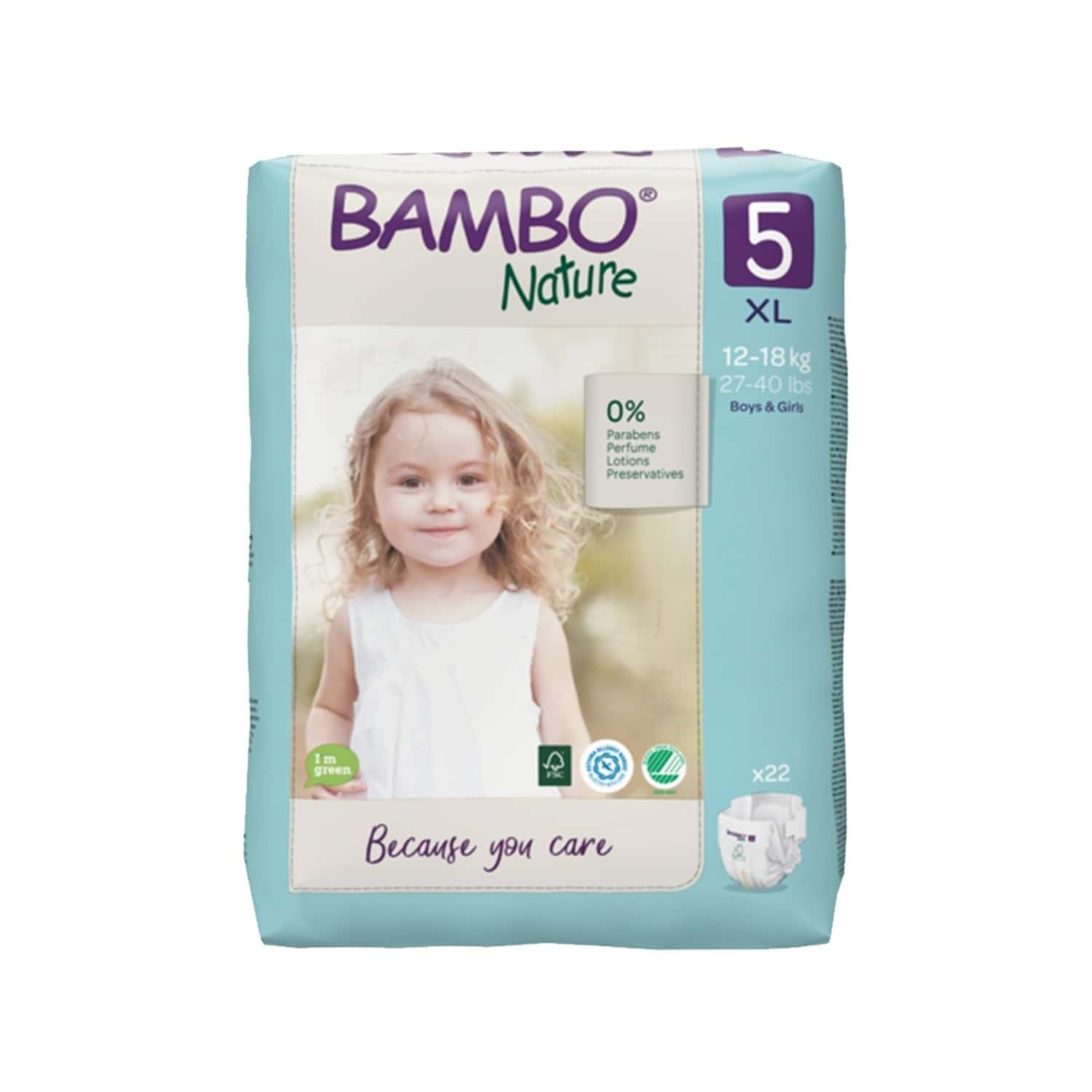 Bambo Nature Xl Size Diaper With Wetness Indicator - 22 Diapers