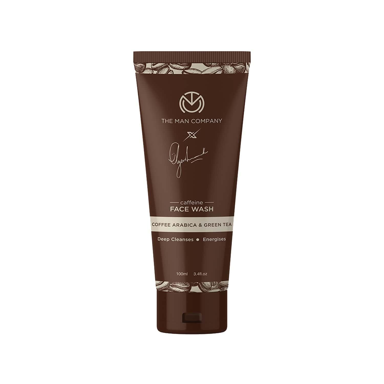The Man Company Caffeine Face Wash By Ayushmann Khurrana With Coffee Arabica And Green Tea - 100 Ml Tube