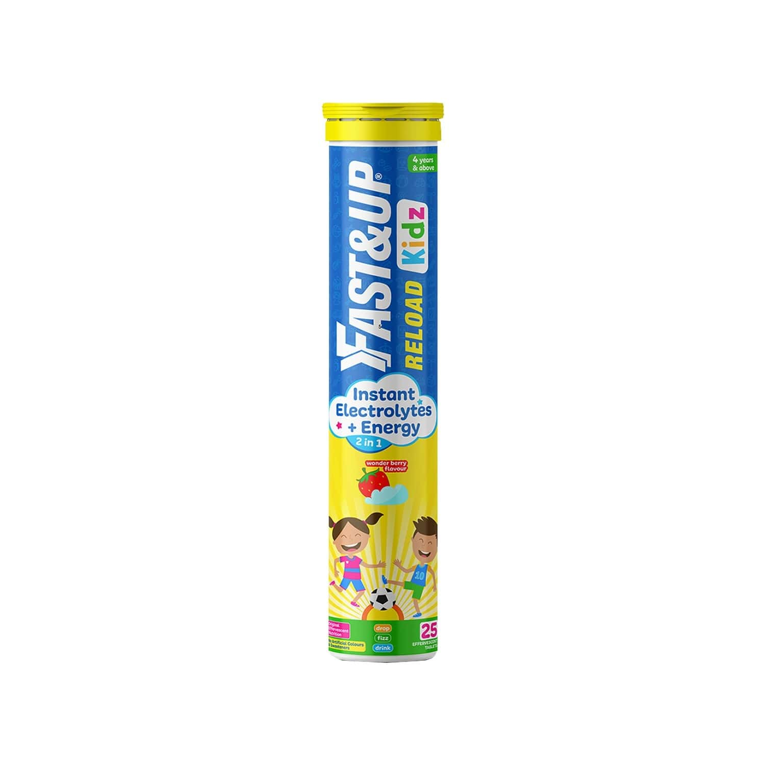 Fast&up Reload Kids Essential Electrolytes-instant Energy&hydration-wonder Berry Flavour(25 Tablets)