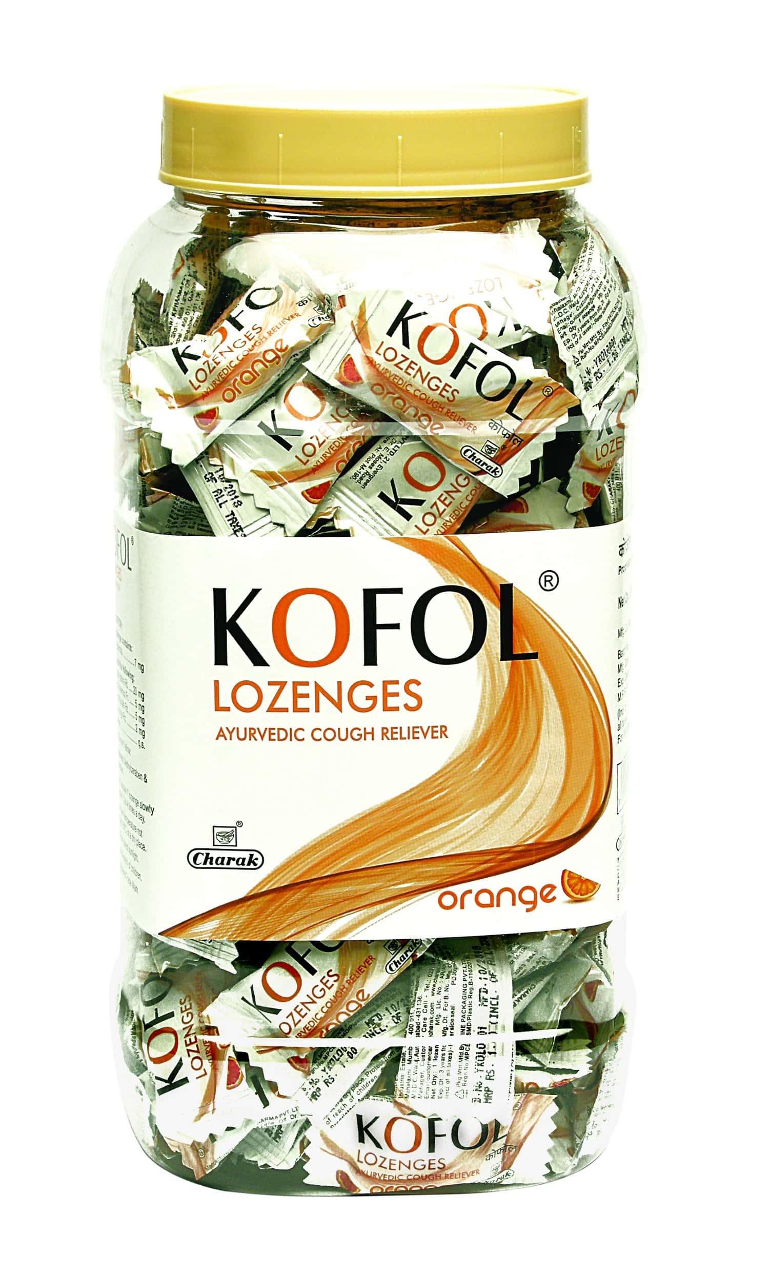 Kofol Orange Lozenges Jar Of 200
