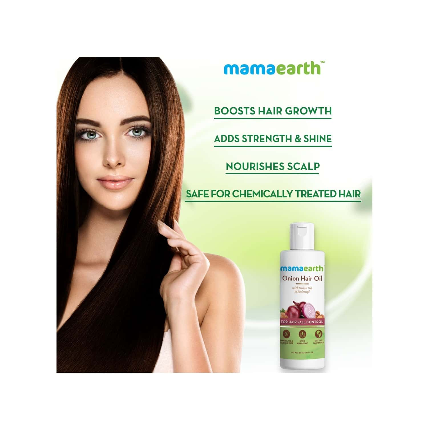 Mamaearth Onion  Hair Oil For Hair Fall Control With Redensyl Bottle Of 150 Ml