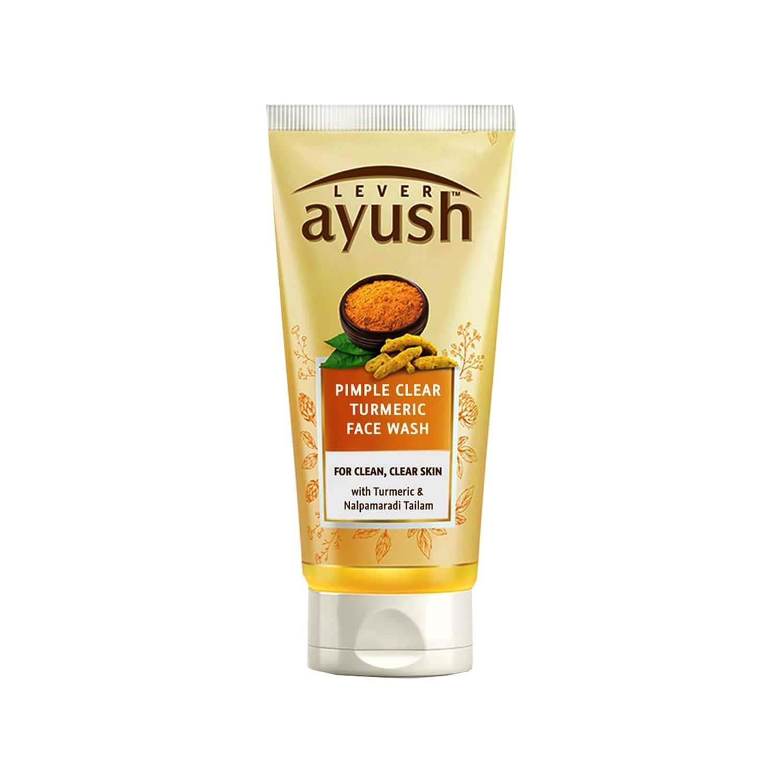 Lever Ayush Anti Pimple Turmeric Face Wash-150 G